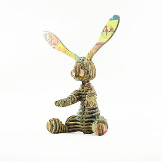 ONE Rabbit /3D Handmade DIY/Home Decoration /Stamp Collage
