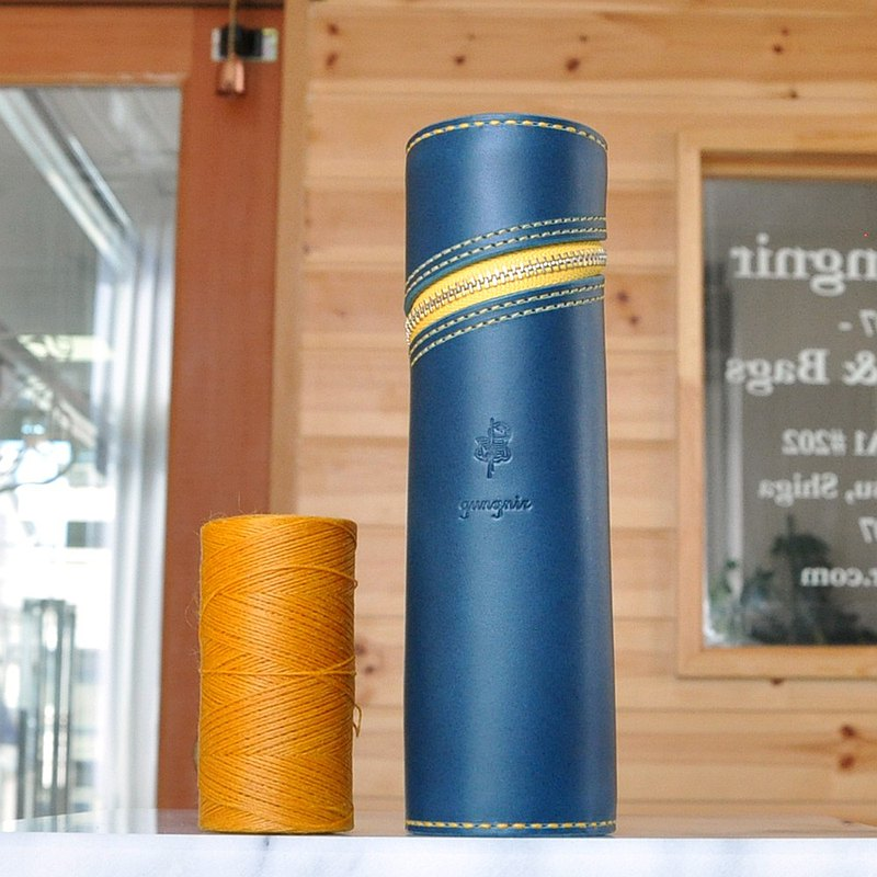 Cylindrical pen case No.4 Buttero