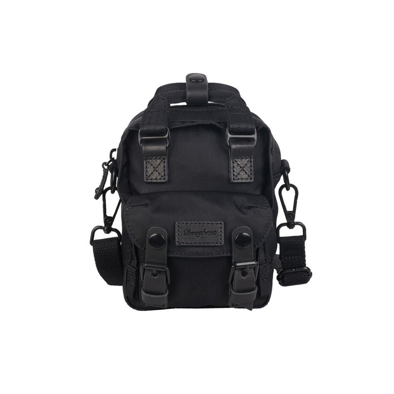 Doughnut Waterproof Macaron Tiny Side Backpack-Reprint Black