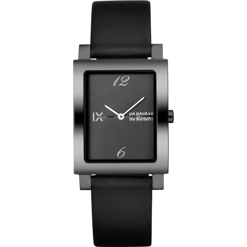 NO Monday ATAES Series Designer Watch - Black / Black / Mirror Black / 28mm