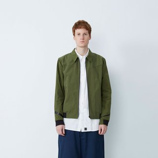 Fashion sleeves - hidden pocket tooling jacket - Army Green