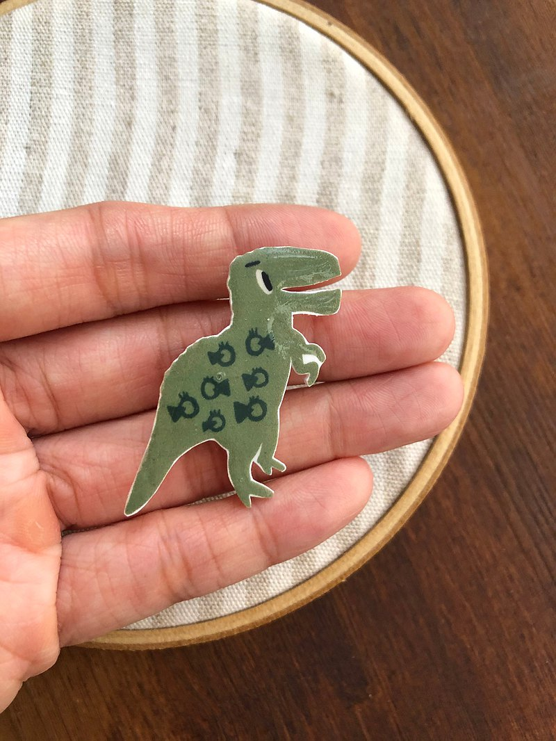 Dinosaur brooch tyrannosaurus illustration ornament pin badge