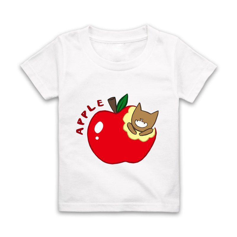 Letter A-APPLE Short Sleeve T-Shirt - White