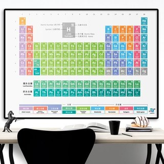 <A0> Colorful Macalon Chemistry Chinese and English Periodic Table of Elements poster