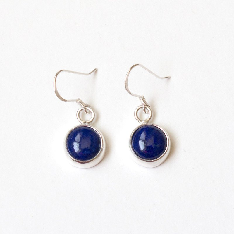 Lapis lazuli silver earrings Lapis lazuli silver earrings