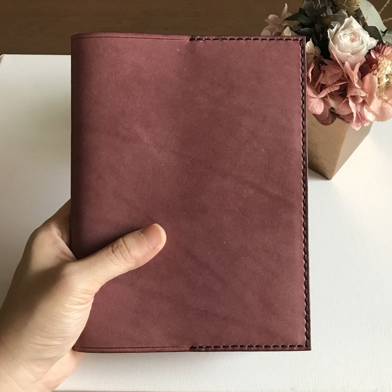 Leather Book Cover │ Travel Handbook │ Muji B6 Size │ Reading Page Design │ Book jacket