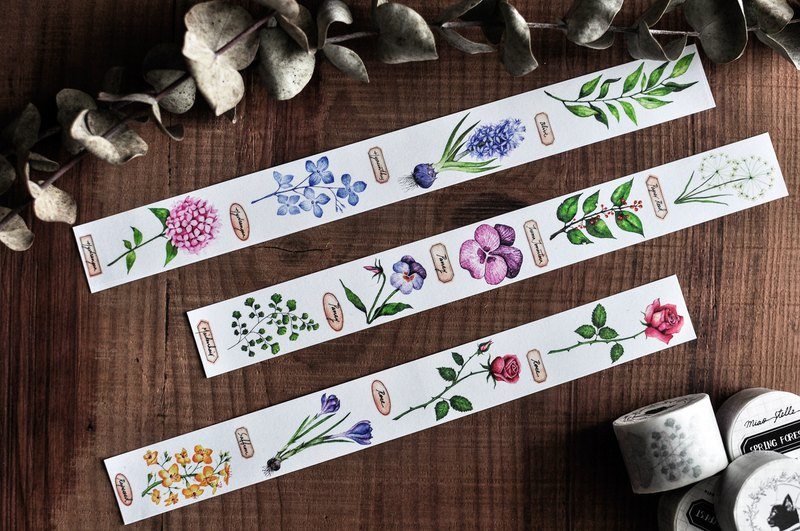 Spring Forest Masking Tape - Plant / Collection / Collage / Notepad / 3cm