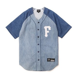 Filter017 Washed Denim Baseball Shirt  水洗單寧棒球衫