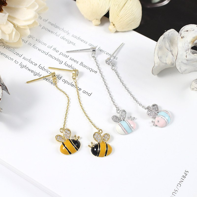 Symphony bee drop earrings earrings Swarovski crystal elements