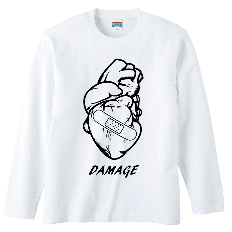 Long Sleeve T-shirt / Damage (heart)
