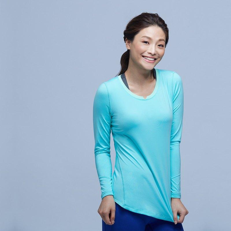 【MACACA】fit柔韌長袖訓練衣 - BRT3352 綠