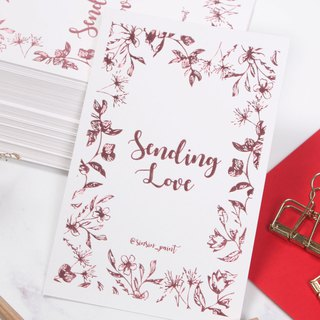 Sending Love Rose Gold Foil Greeting Card