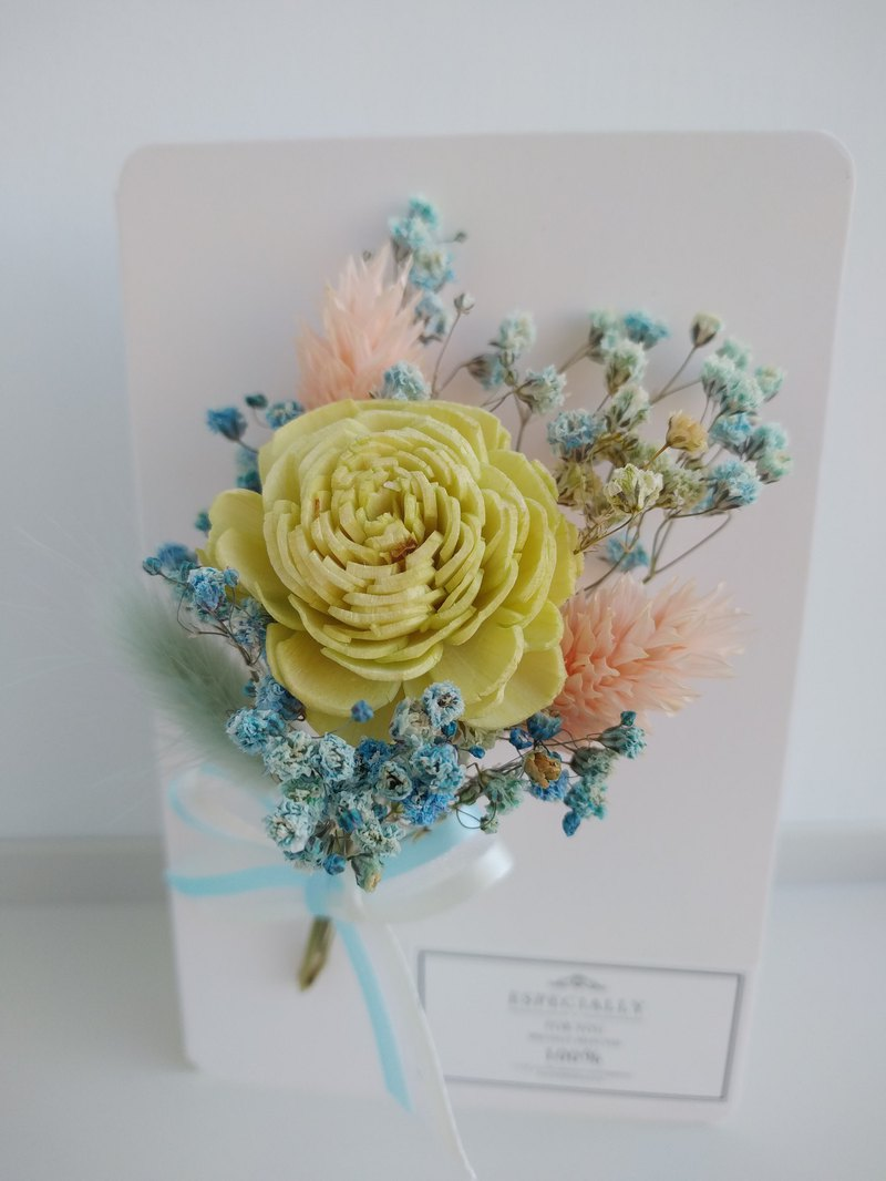 Mansen dry flower card without flower dry flower card