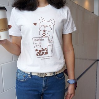 (Sold Out)【 Fubao Drink Jane Milk】-Fighting T-shirt - White