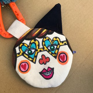 Dolly Head hand-painted sister head (tweeted) purse / small bag-DH001