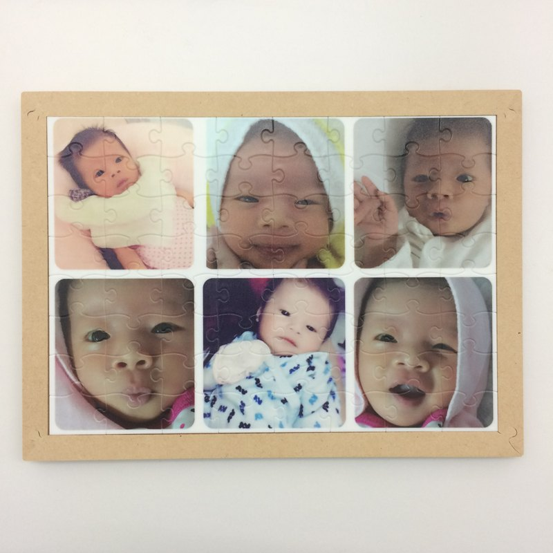 Customized A5 plastic puzzle photo frame