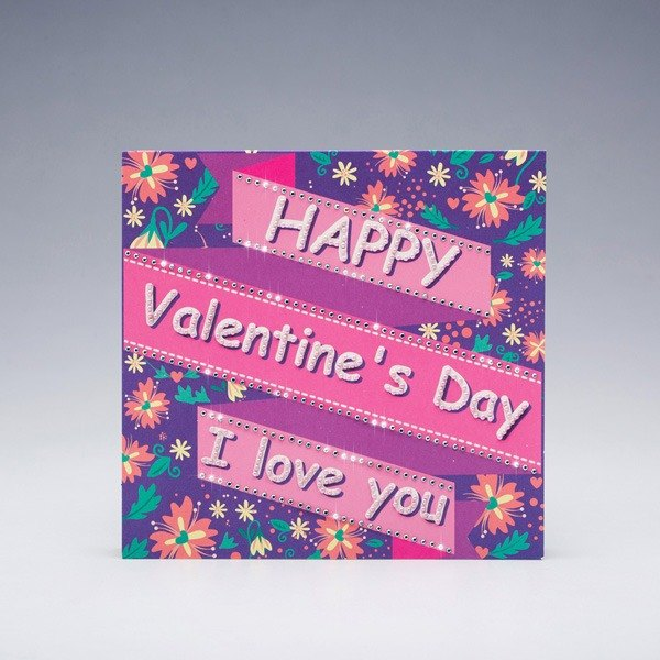 [] GFSD Rhinestone Collectibles - handmade Valentine's Day cards - love blessing