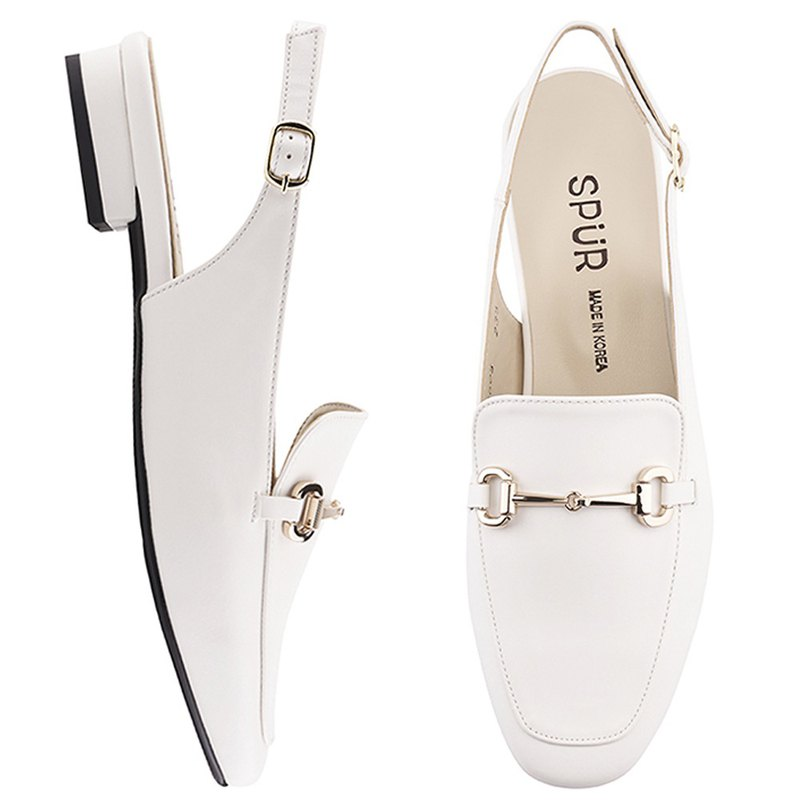 PRE-ORDER SPUR Simple chain slingback  PS7005 WHITE