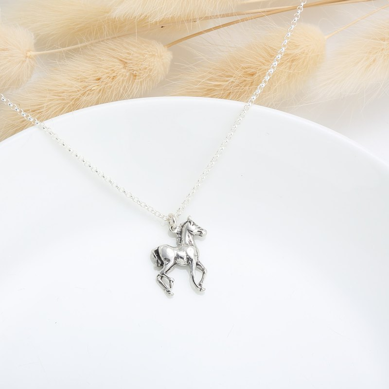 Pony s925 sterling silver necklace Birthday Valentine's Day gift