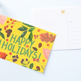 Happy Holidays postcard / buy 3 get 1