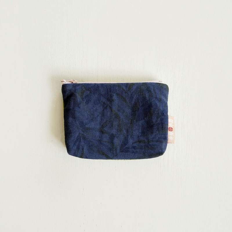 Sold Out | Night Leaf Pattern. Indigo Blue. Coin Purse. Made in Japanese Flower Cloth. Color Matching. Special