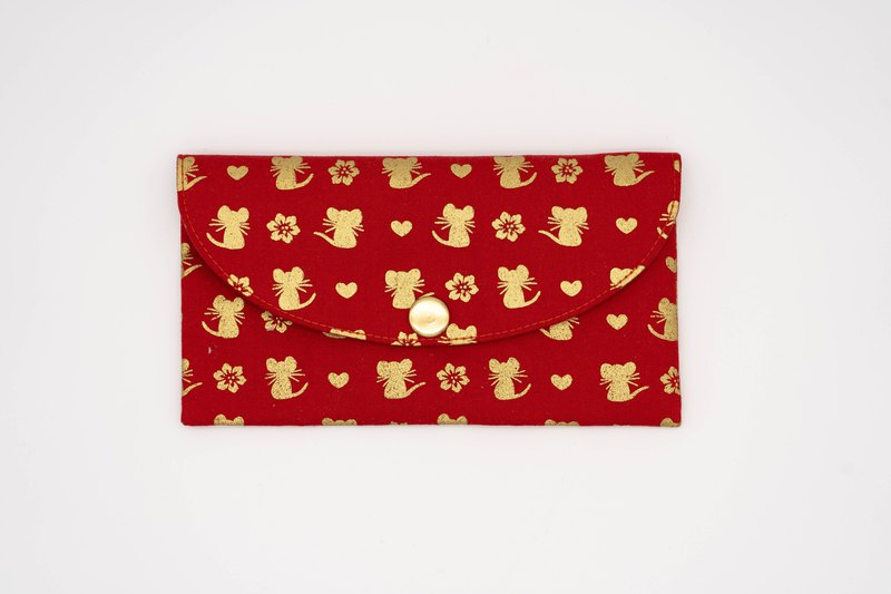 Play cloth hand made. Gold rat (red) red bag passbook storage bag