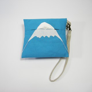 See Fuji mountain paper purse __ 作作 zuo zuo handmade purse gift gift (1 / month)