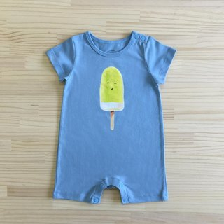 Gujui love to eat ice _ organic cotton fart clothing / jumpsuit _ blue