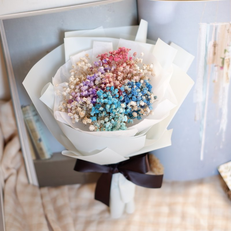 Unable to continue | colorful sky gods dry flowers bouquet wedding small gifts gifts wedding arrangements bridesmaid house home furnishings decorations office small things healing Valentine's Day Tanabata spot