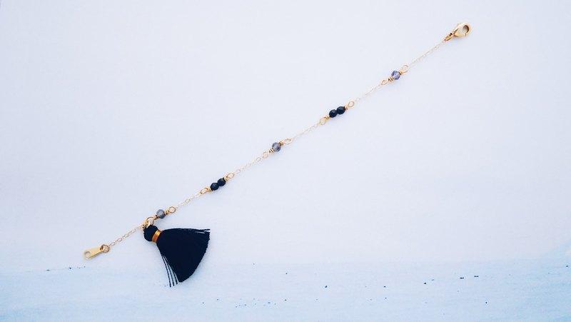 黑羽--天然石流蘇14KGF手鍊