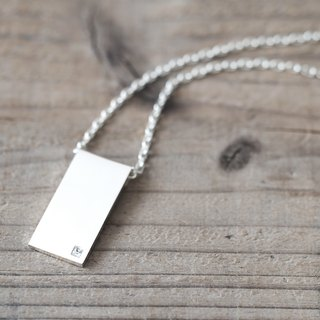 Men's) White stick stick Necklace Silver925