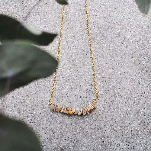 |: GS1-010 natural stone necklace: |