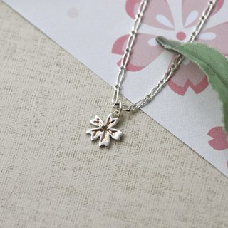 Sakura (Purple Silver Plated Rose Gold/White K Necklace Silver Valentine's Day Gift) ::C% Handmade Jewelry::