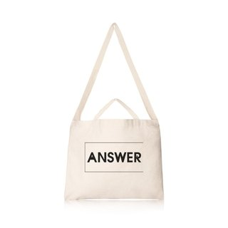 ANSWER text style wind canvas bag