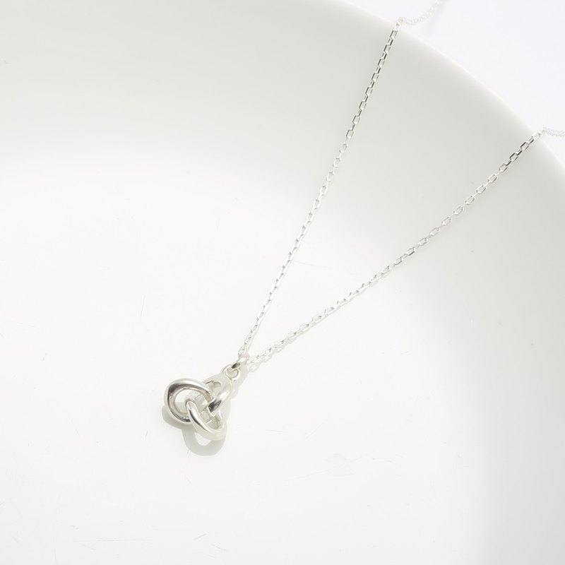 Love infinity intertwine 925 sterling silver necklace small Valentine's Day gift