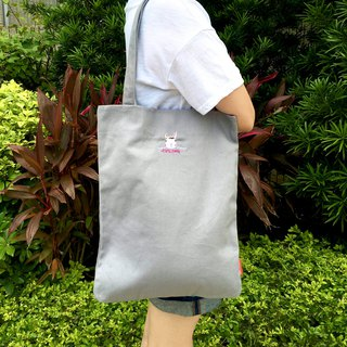 The. Playing. Forest-Cocomo Embroidery Canvas Tote / Grey