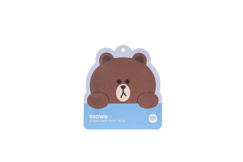 LINE FRIENDS BROWN steam hair mask (1Pcs)