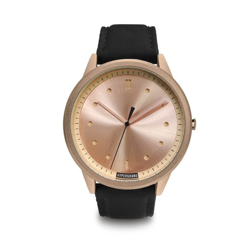 HYPERGRAND - 02 Basic Series - Rose Gold Dial x Black Aviator Watch