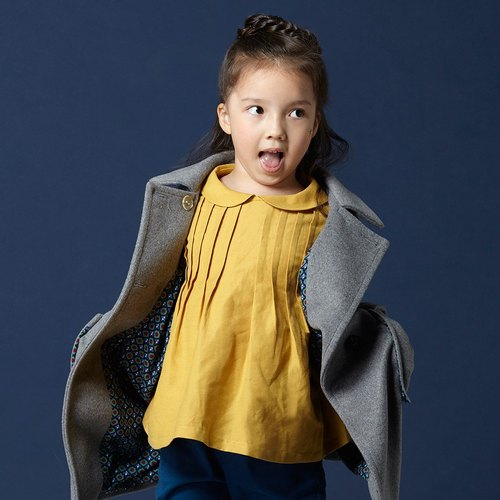 Ángeles- small round neck bow blouse discounts (2-6 years old)