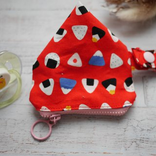 Triangle rice ball three-dimensional triangle pacifier bag