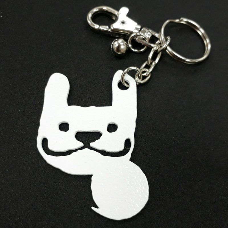 LAZYMARU-MA000983 White MARU Sitting Keychain (White) Fighting Accessories Taiwan Creative