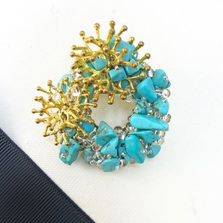 Exquisite - Japanese Style Brooch【Sea】【Coral】【Wedding 】【Christmas Gift】