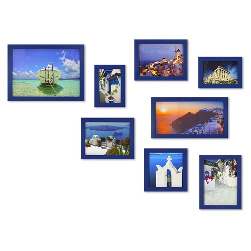 HomePlus Photoframe Blue 8PCS Greece Decor