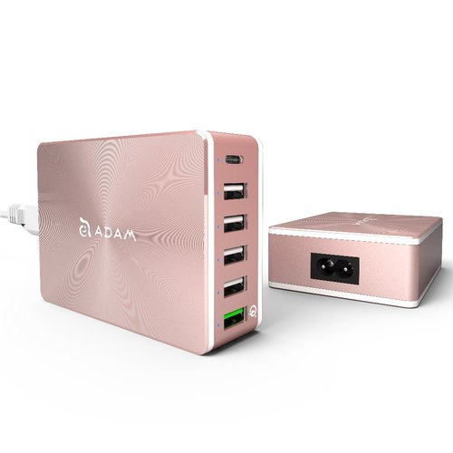 ADAM OMNIA PA601 independent 6 port multi-speed smart charger rose gold