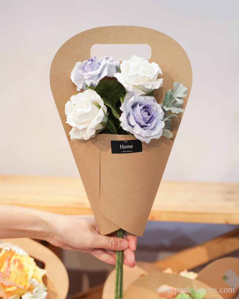 Blue Roses Paper Cone for Home Decoration