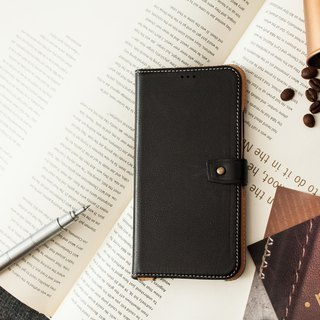 iPhoneXR Slipcase Series Leather Case - Black