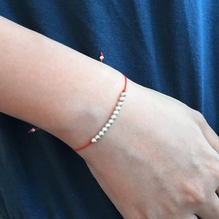 Red Bracelet | 12 Silver Beads Red Bracelet | Friendship Bracelet | Red String