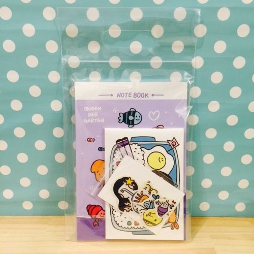 Heart / A package (notebook + sticker)