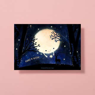 Illustrator postcard - make a wish
