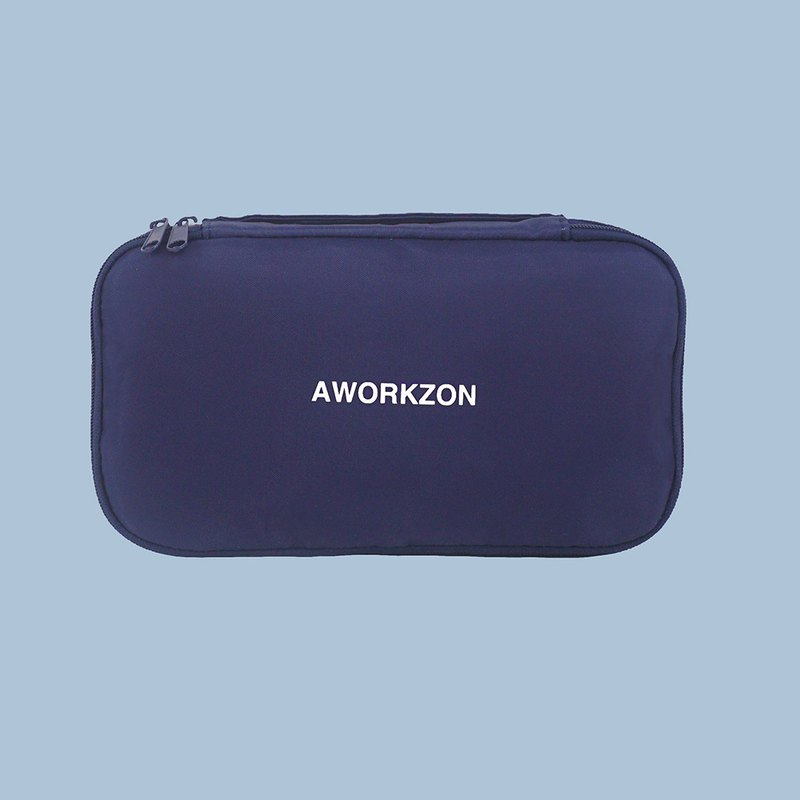 190 navy | multi-function light organizer pen bag makeup pouch